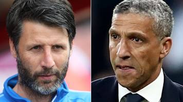 west bromwich albion: danny cowley & chris hughton under consideration for manager's job