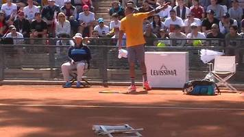 watch: angry kyrgios' chair-throwing meltdown at italian open