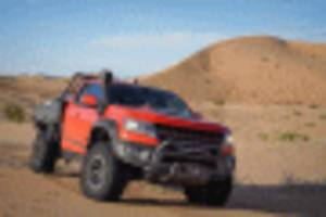 2019 chevy colorado bison zr2 aev tray bed concept is one tough, utilitarian pickup