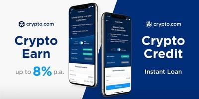 Crypto.com Launches Earn and Credit to Replace Your Bank Account