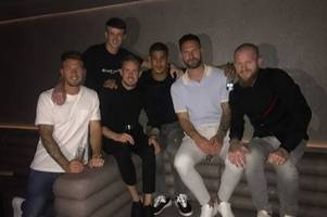 cardiff city players travel to greece to surprise aron gunnarsson for his birthday