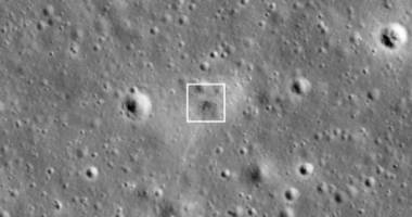 nasa found the impact from israel's crashed moon lander
