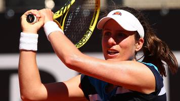 konta beats stephens to set up williams meeting in rome