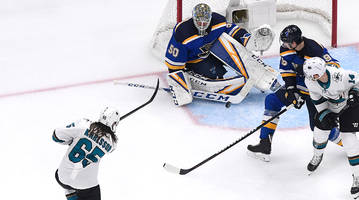 erik karlsson scores controversial overtime winner as sharks top blues in game 3