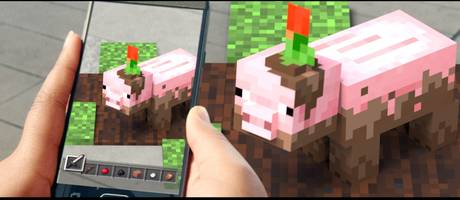 a new, free 'minecraft' game was just revealed, and it takes major cues from the wildly popular 'pokémon go' phenomenon