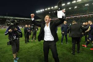 frank lampard: it's gone better than i imagined - now let's finish the job