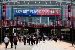 These are the Aston Villa pubs at Wembley for Derby County play-off final