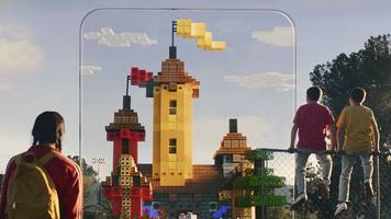 Minecraft Earth is augmented reality on a global scale, and also in your kitchen