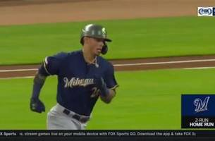 watch: brewers' nottingham hits first career home run
