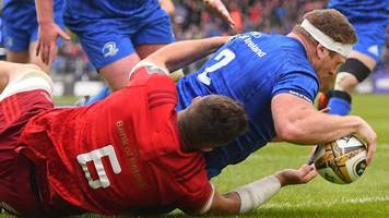 Reigning champions Leinster beat Munster to set up Pro14 final with Glasgow