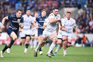 gloucester rugby to face saracens in gallagher premiership semi-final after defeat in try fest against sale sharks