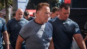Arnold Schwarzenegger drop-kicked at South Africa event