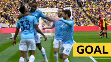 fa cup: man city go 2-0 up in fa cup final but is it raheem sterling or gabriel jesus' goal?