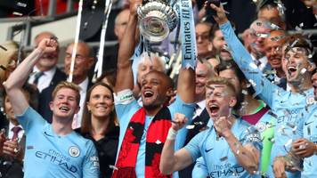 vincent kompany after fa cup win: man city are best team in the world