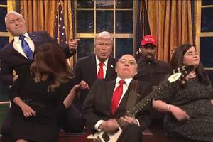 'snl': trump administration sings corruption-themed version of queen's 'don't stop me now' (video)