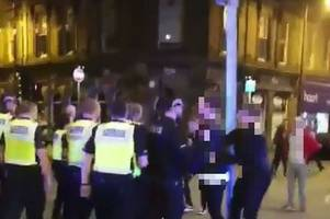 this is why so many cops flooded derby city centre last night