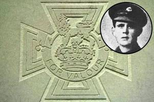 victoria cross stone commemoration for first world war hero