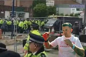Tommy Robinson campaign van targeted by eggs and milkshakes in latest street rammy