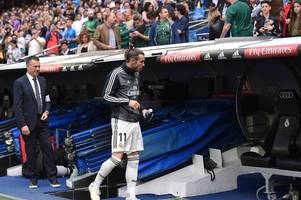 real madrid's gareth bale snubbed and denied final outing on what could have been his last game for spanish giants