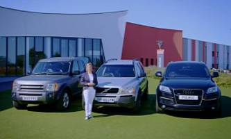 best used large suvs: fifth gear likes volvo xc90 over discovery and q7