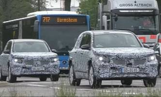 glb-class spied testing in electric mode: eqb or plug-in hybrid?