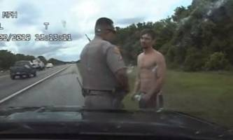 shirtless florida man steals police cruiser, does 150mph with it