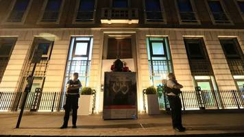 greenpeace activists blockade bp hq with containers