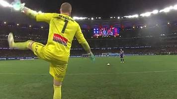 A-League Grand Final: Dancing goalkeeper Andrew Redmayne is penalty shootout hero for Sydney FC