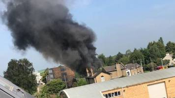 cambridgeshire guided bus fire as car collides in longstanton