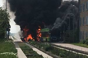 guided busway fire: passenger describes terrifying moment bus 'burst into flames'