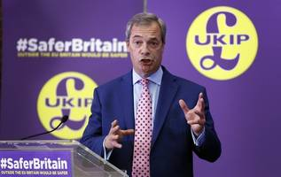 nigel farage is pelted with milkshake as he visits newcastle on european election tour