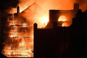 glasgow school of art first pictures revealed from inside fire-ravaged building