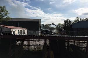 400-tonnes of clothing goes up in flames after large fire breaks out at cowbridge industrial estate
