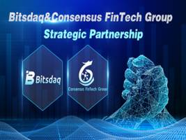 bitsdaq gains an additional strategic investment.  entering into a strategic partnership with consensus fintech group