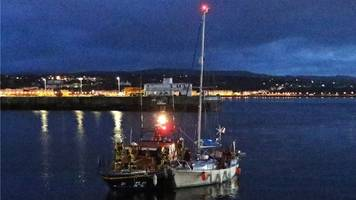 three rescued from yacht stranded off isle of man