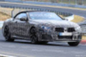2020 bmw m8 convertible spy shots and video