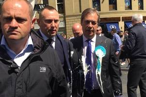Nigel Farage milkshake attack man Paul Crowther, 32, charged