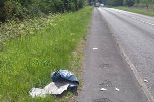 four miles of road to remain closed after bags of asbestos dumped on roadside