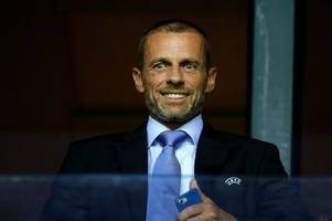 what uefa president has said about a man city champions league ban and how it affects arsenal