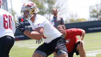 report: 49ers first-round pick nick bosa injures hamstring, leaves practice