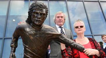 in pictures: george best statue unveiled at windsor park