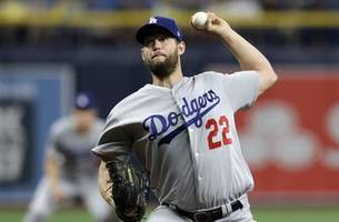 kershaw takes shutout in 7th, dodgers beat rays 7-3