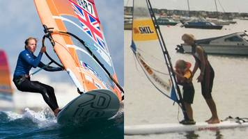 Emma Wilson: GB windsurfer on following in two-time Olympian mother's footsteps
