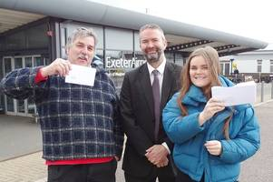Winners of FREE Exeter Airport flights to Naples and The Algarve revealed