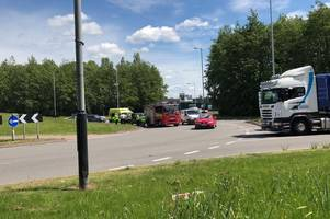 lorry and elderly couple's car crash outside bilston fire station - live updates