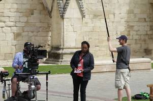 in pictures: doctor who filming new episode for series 12 around gloucester cathedral