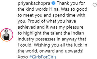 cannes 2019: priyanka chopra is proud of hina khan's achievements