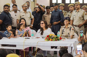 mardaani 2: rani mukerji meets the police force in kota, see photos