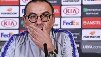 'i want to know if they are happy with me' - sarri to discuss chelsea future after final