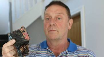 armagh dad in deadly defect warning after phone bursts into flames
